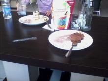 в кафе Шоколад